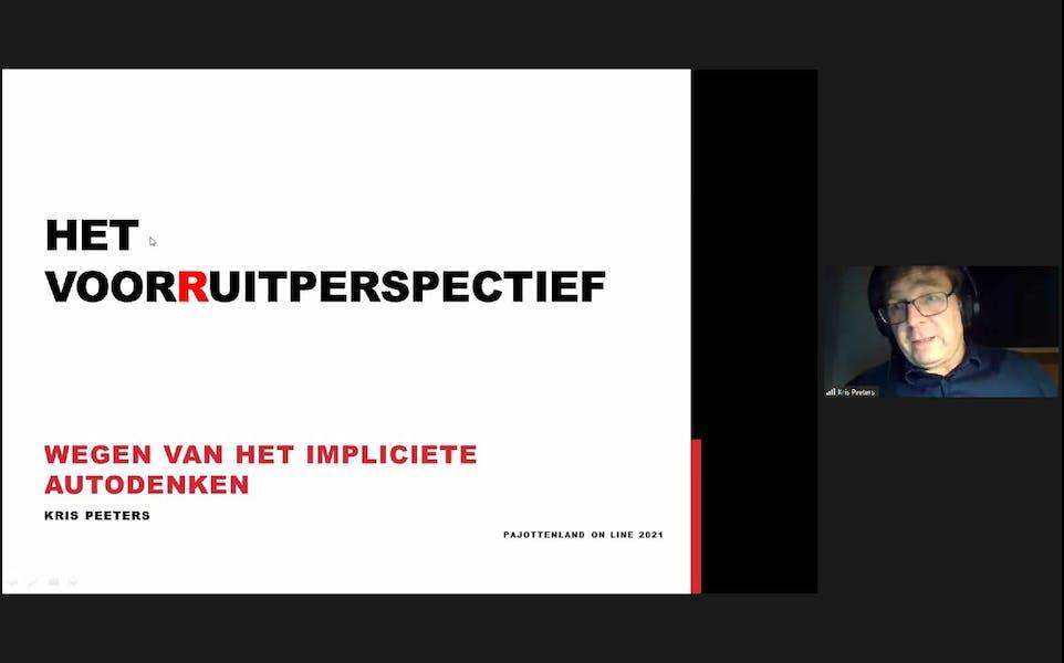 Online lezing met mobiliteitsexpert Kris Peeters.